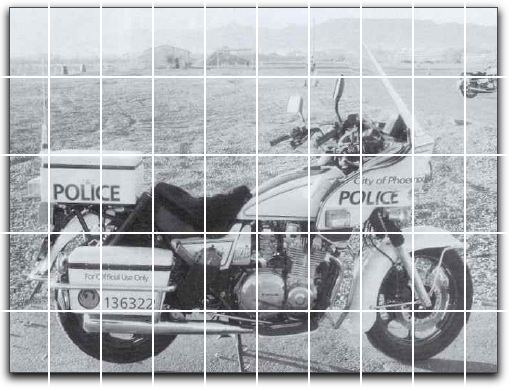 Phoenix Police motorcycle (grids)