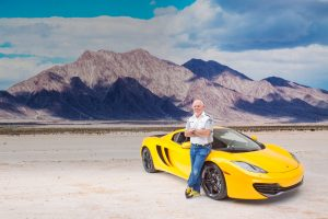 McLaren on Salt Flats