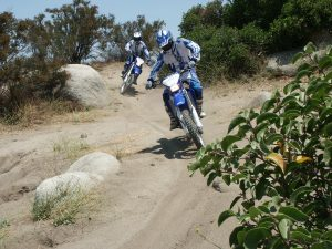 dirt motorcycles in some rocks