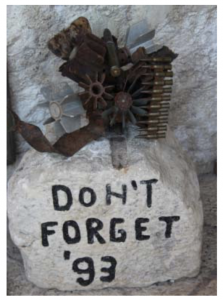 Don't Forget '93 painted on a rock